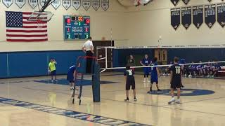 Hall High School Warriors Varsity Volleyball v. Newington High - 4-25-18 - Newington Wins 3-0.(5)