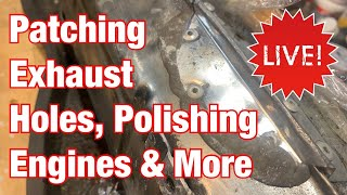 Patching Exhaust Holes & Polishing Engines Motorcycle Restoration LIVE Stream