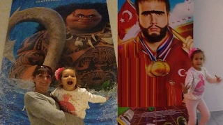 Elif ilk kez sinemaya gidiyor, Disney moana filmini izledik, eğlenceli çocuk videosu