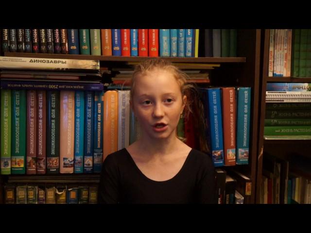 Изображение предпросмотра прочтения – АнастасияСпицина читает отрывок изпроизведения «Бородино» М.Ю.Лермонтова