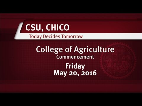 College of Agriculture Commencement   May 20, 2016