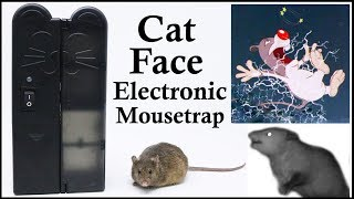 The Cat Face Electronic Mouse Trap & Big Mama The Opossum. Mousetrap Monday