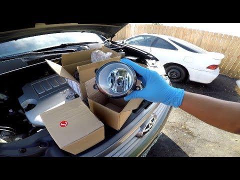 Fog light install - Toyota Highlander 2008 - 2010 - YouTube
