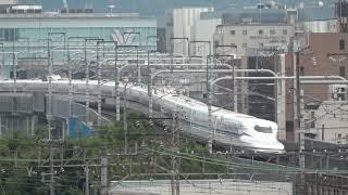 おっさん叫びすぎ... JR東海N700S系 J0編成 試運転 京都鉄道博物館横通過