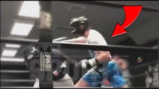 REACTING TO LOGAN  PAUL'S LEAKED SPARRING FOOTAGE!