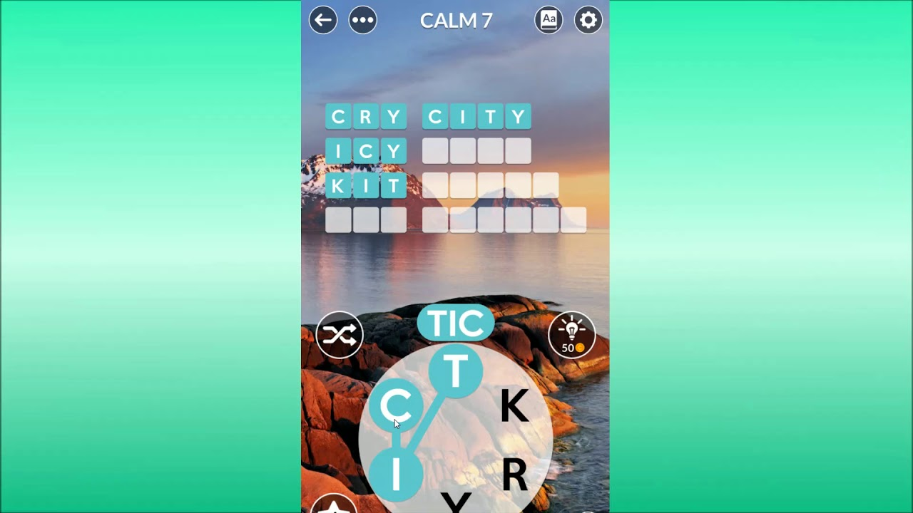 Wordscapes Uncrossed Calm 7 Youtube
