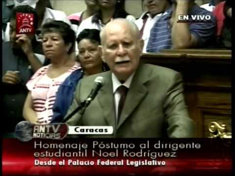 Discurso de José Vicente Rangel en Homenaje a Noel Rodríguez en Asamblea Nacional