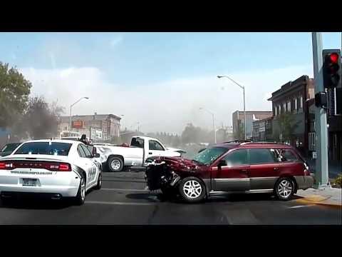 Police Chase via Dash Cam in Rexburg Idaho