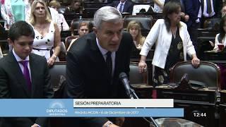 Video: Juran los nuevos diputados nacionales