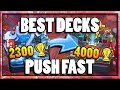Top 3 Best Decks For Trophy Pushing Arena 8 11 Legendary Hog Rider PEKKA Clash Royale Strategy Tips mp3
