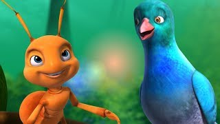 The Ant and the Dove Story Song | Telugu Rhymes for Children | Infobells