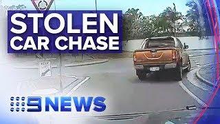 Townsville car thieves' wild police pursuit | Nine News Australia