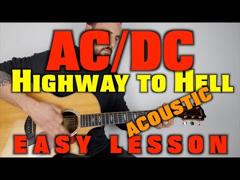 How to play AC/DC Highway to Hell (acoustic)