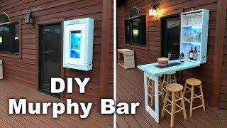 How to make a Murphy Bar with Krylon® Brand that will light up your patio! This simple to make Murphy Bar is a cabinet that folds