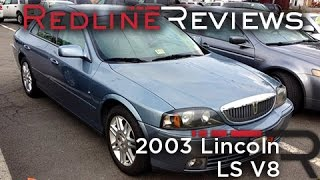2003 Lincoln LS V8, Review, Walkaround, Start Up, Test Drive