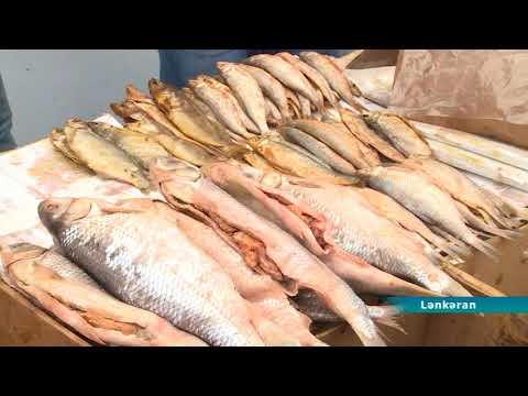 Lənkəran bazarında diri balığın azlığı quru balığa tələbatı artırıb