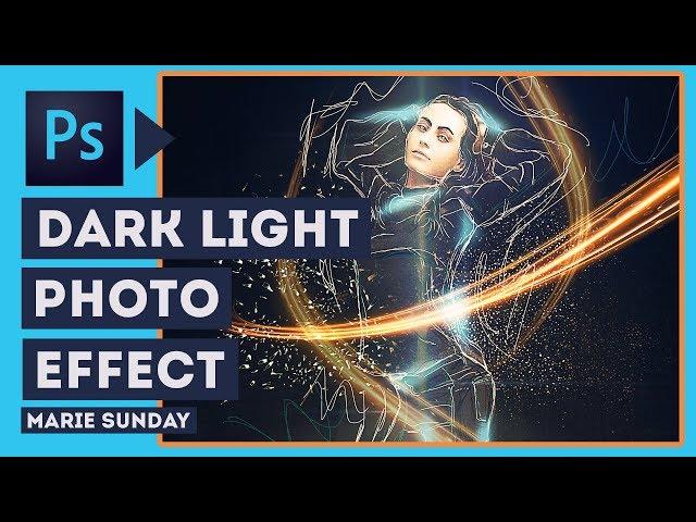 Photoshop Photo Manipulation // Dark Effect with Light