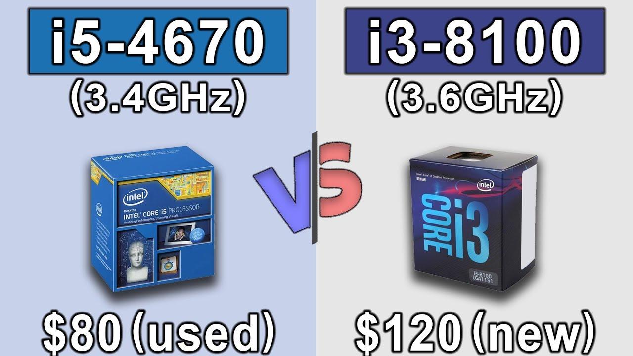 Core i5 4670 vs i3 8100 | New Games Benchmarks - YouTube