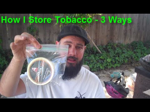 Pipe Smoking - 3 Different Ways I Store Tobacco