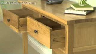 Cairo Solid Oak Console / Hall Table From Oak Furniture Land