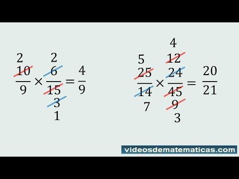 Multiplicación De Fracciones Con Simplificación