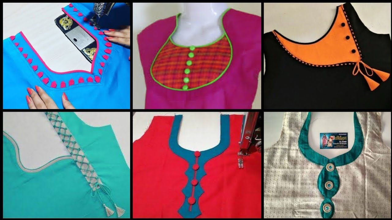 Churidar Neck Designs Salwar Neck Designs Kurti Neck Designs Neckline Designs Gala Design Youtube