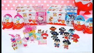 開箱 健達奇趣蛋 最新版 Hello Kitty | 正義聯盟 玩具 大集合 Unboxing Kinder Eggs Hello Kitty and Justice League Toys