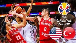 USA 🇺🇸 v Turkey 🇹🇷 - Classic Full Games | FIBA Basketball World Cup 2019