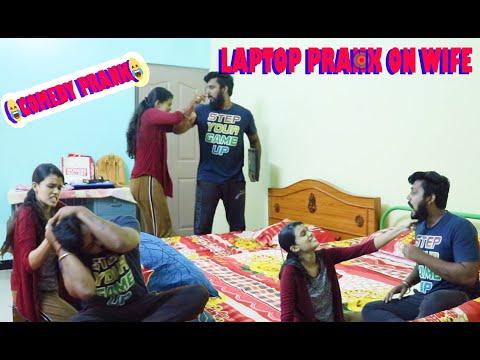 LAPTOP COMEDY PRANK | FUNNY PRANK ON MY WIFE | SRINEE PRANK | #srineefamily #srineevideos