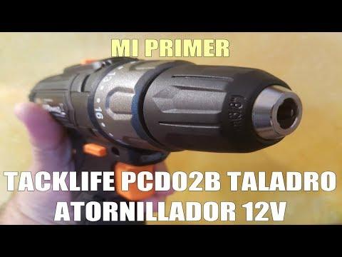 Mi Primer Atornillador Taladro 12v Tacklife PCD02B #UnBoxing #Práctica