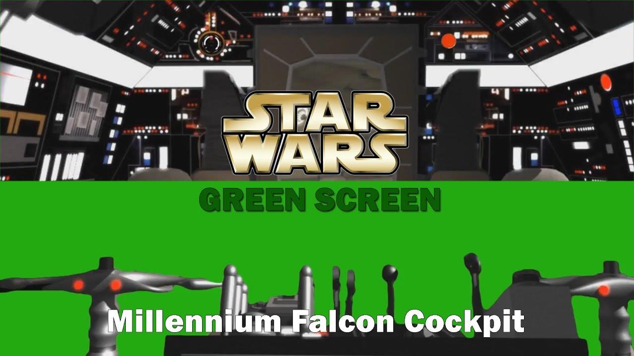 Star Wars Green Screen Millennium Falcon Cockpit Background Hd Green Screen Effects Youtube