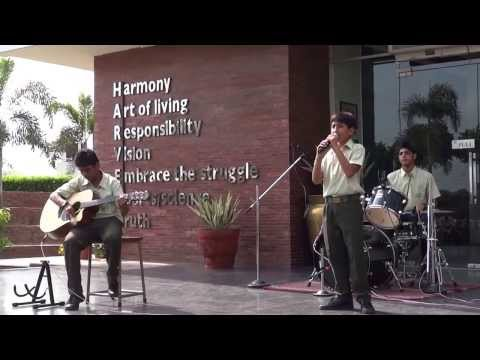 "Lakshya ko har haal mein .. Live by"" KAMMPANNA "" band at Harvest International School"