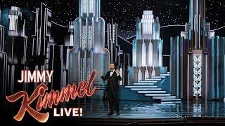 بالفيديو- #أوسكار_2017.. جيمي كيمل كاد أن يلقى حتفه في بروفات الأوسكار!