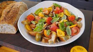 Когда на улице +40 в Италии готовят салат Панцанелла