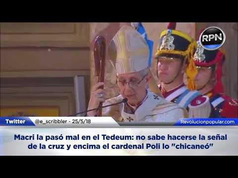 Macri la pasó mal en el Tedeum del 25 de mayo