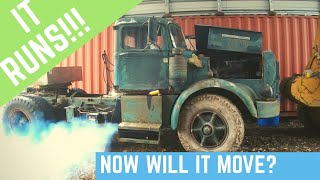 First start of 1957 AUTOCAR Truck in 15 years!!!