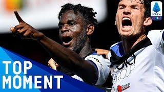 Zapata wins the match for atalanta in ...