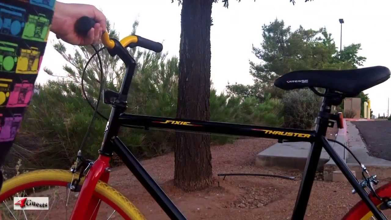 c55923d3972 THRUSTER FIXIE 700c BICYCLE from WALMART - YouTube