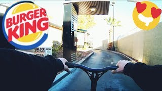"""Burger King Drive-Thru With Scooter """"SPECIAL ANNOUNCEMENT"""""""