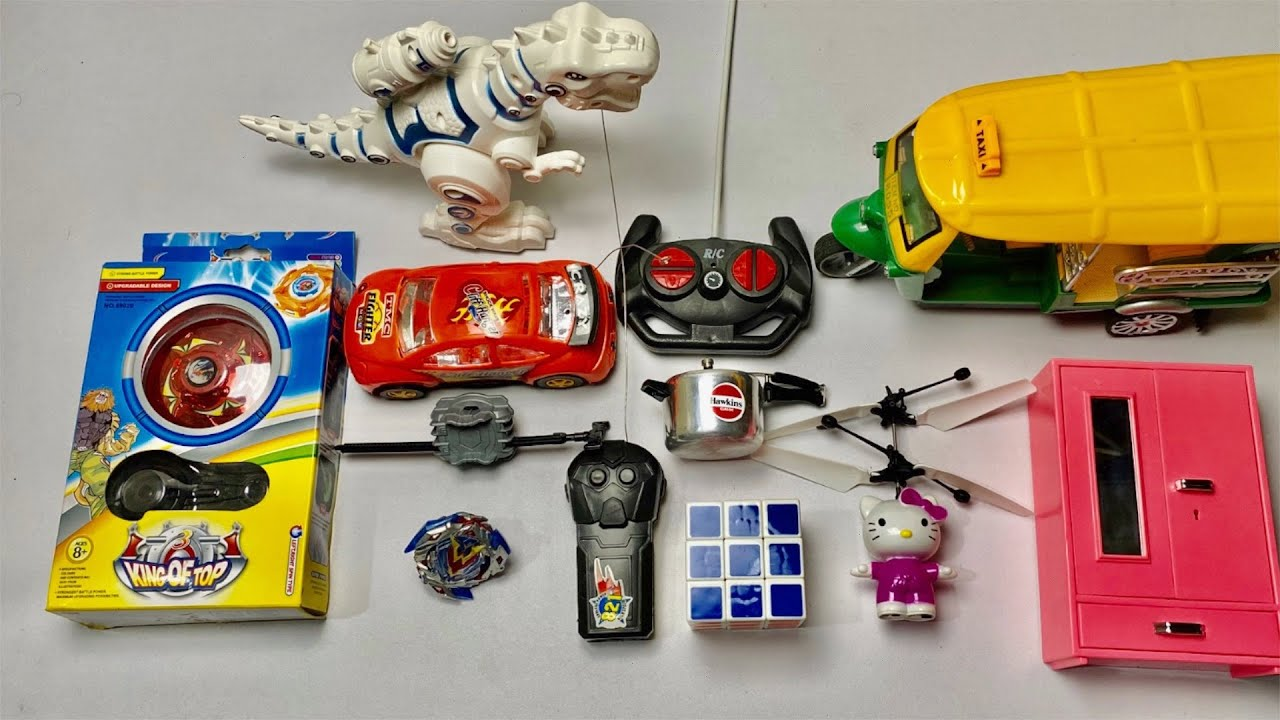 My Latest Cheapest toys Collection, rc autorickshaw, rc car, flying hello kitty, pressure cooker toy