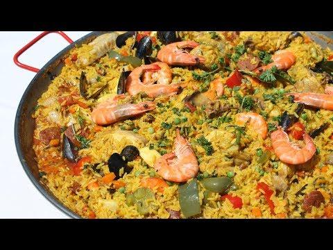 paëlla-au-poulet,-au-chorizo-et-aux-fruits-de-mer---cooking-with-morgane