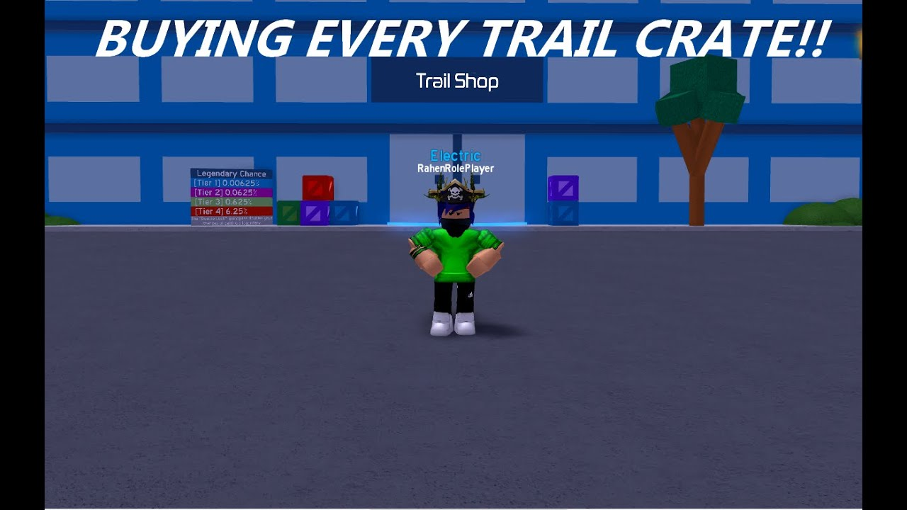 (Roblox) Speed City - Buying Every Trail Crate