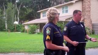 Police threatens unlawful arrest to prevent a trespass!?!