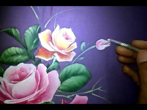 Rosebud Painting Tutorial On Fabric Textile How To Paint Roses