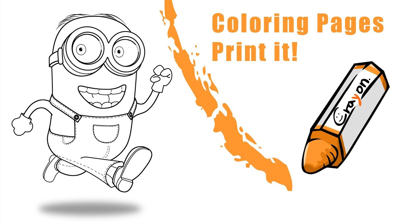 how to draw a minion create a coloring pages youtube