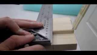 Сборка дверной коробки врезка петель без спец инструмента