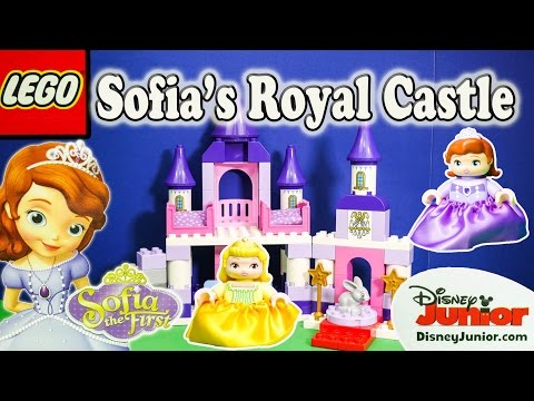 SOFIA THE FIRST Disney Sofia Lego Duplo Royal Castle Sofia Video Toy Review