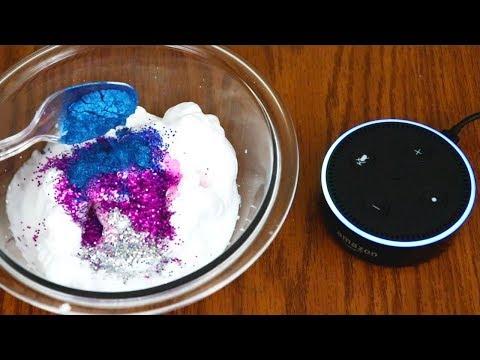Alexa Picks My Slime Ingredients! Making Slime with Alexa