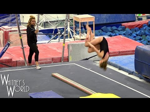 Standing Arabian on Beam - Training | Whitney Bjerken