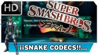 Todos los Codecs de Snake en Brawl ¡Único en Español HD!